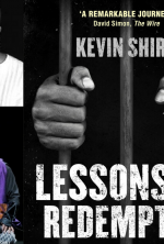 Kevin Kenerly [left above & below] is to narrate Kevin Shird's 'Lessons of Redemption' [cover right]
